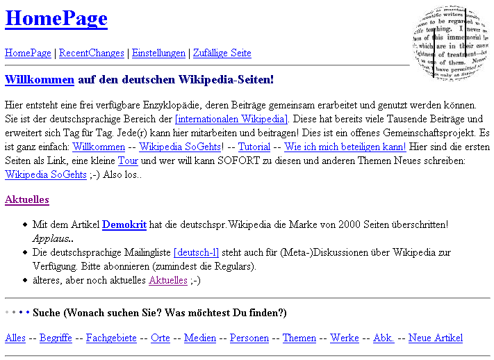 German Wikipedia MainPage (2001-11-29).png