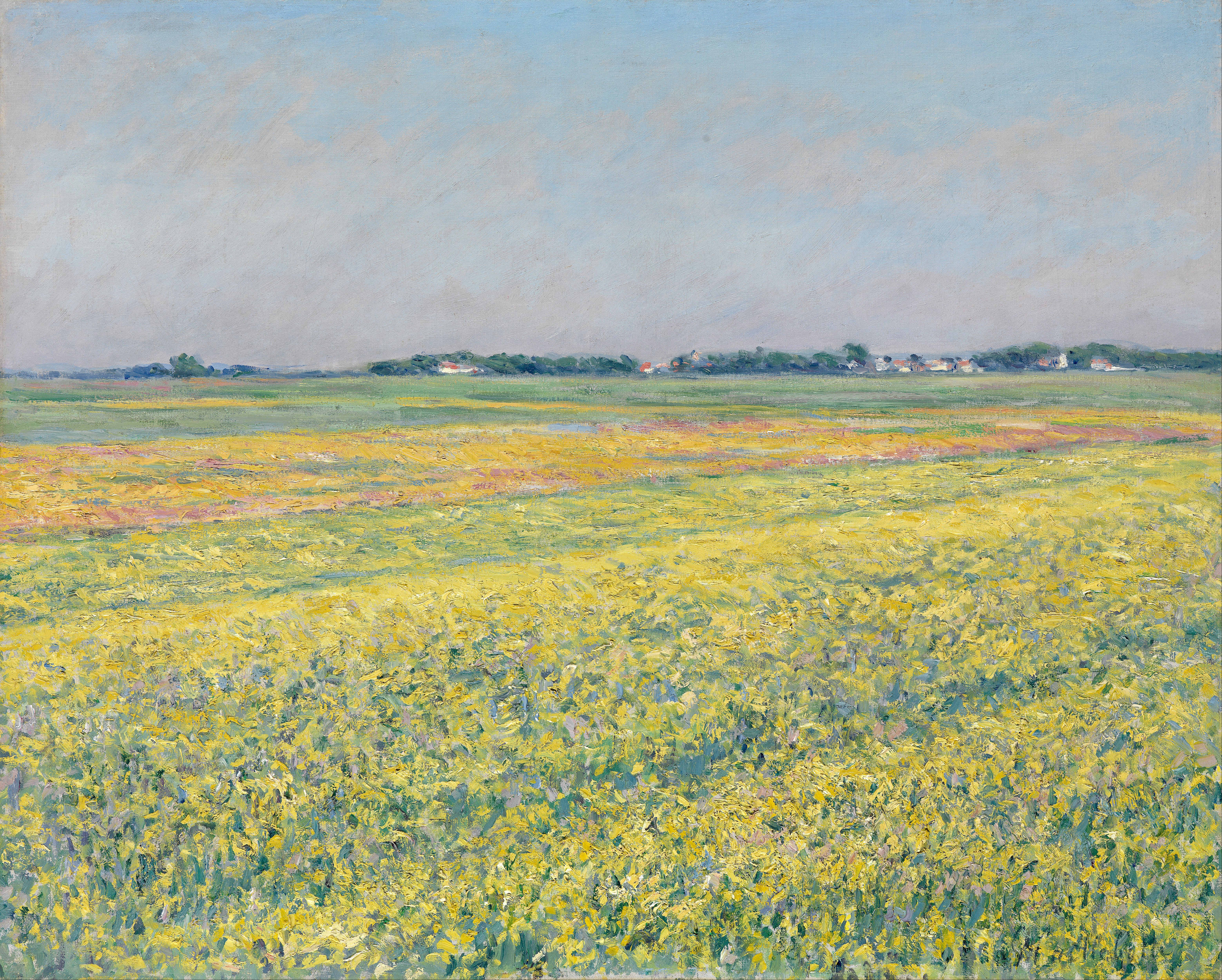 File Gustave Caillebotte - The plain of Gennevilliers  yellow fields    Plain Pictures