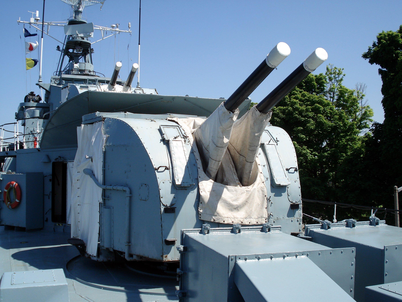 QF 4-inch naval gun Mk XVI - Wikipedia