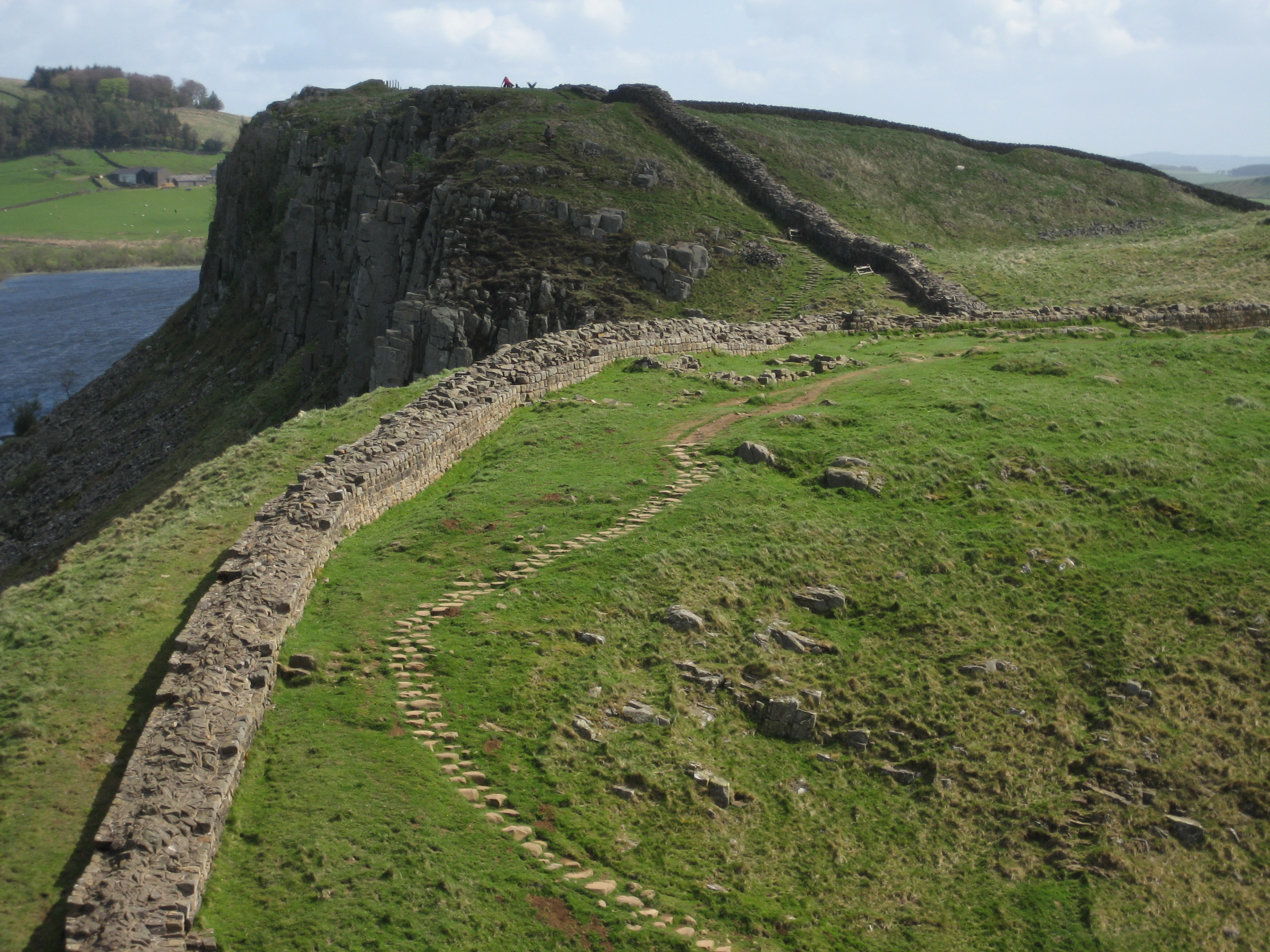 Hadrian's Wall and path, section near Crag Lough.