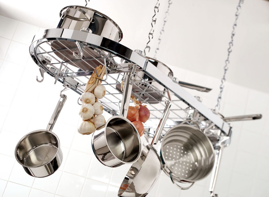 Pot Rack Wikipedia - Kitchen pot rack light fixtures
