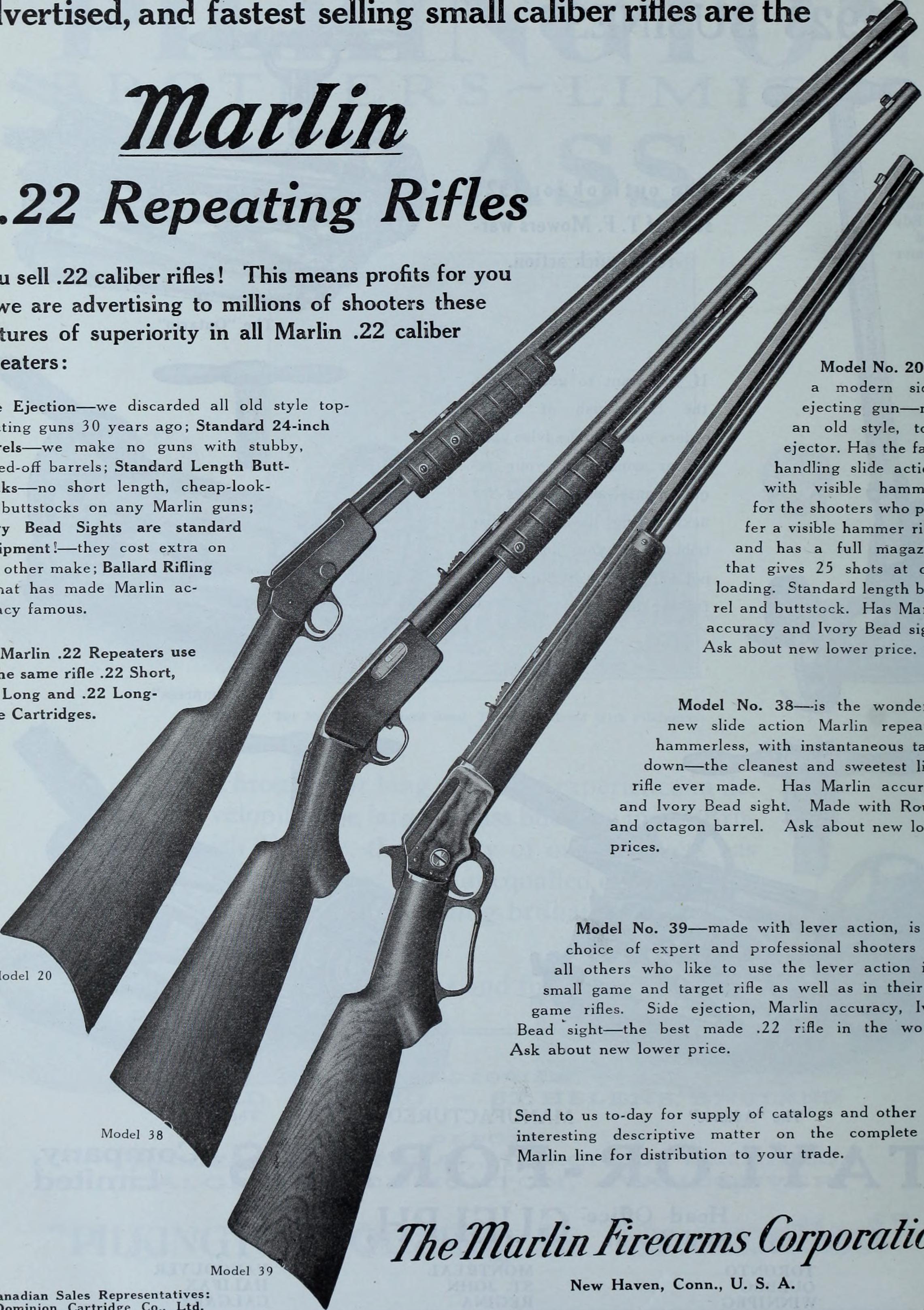 Marlin 1922 Repeating Rifles and Shotguns Catalog