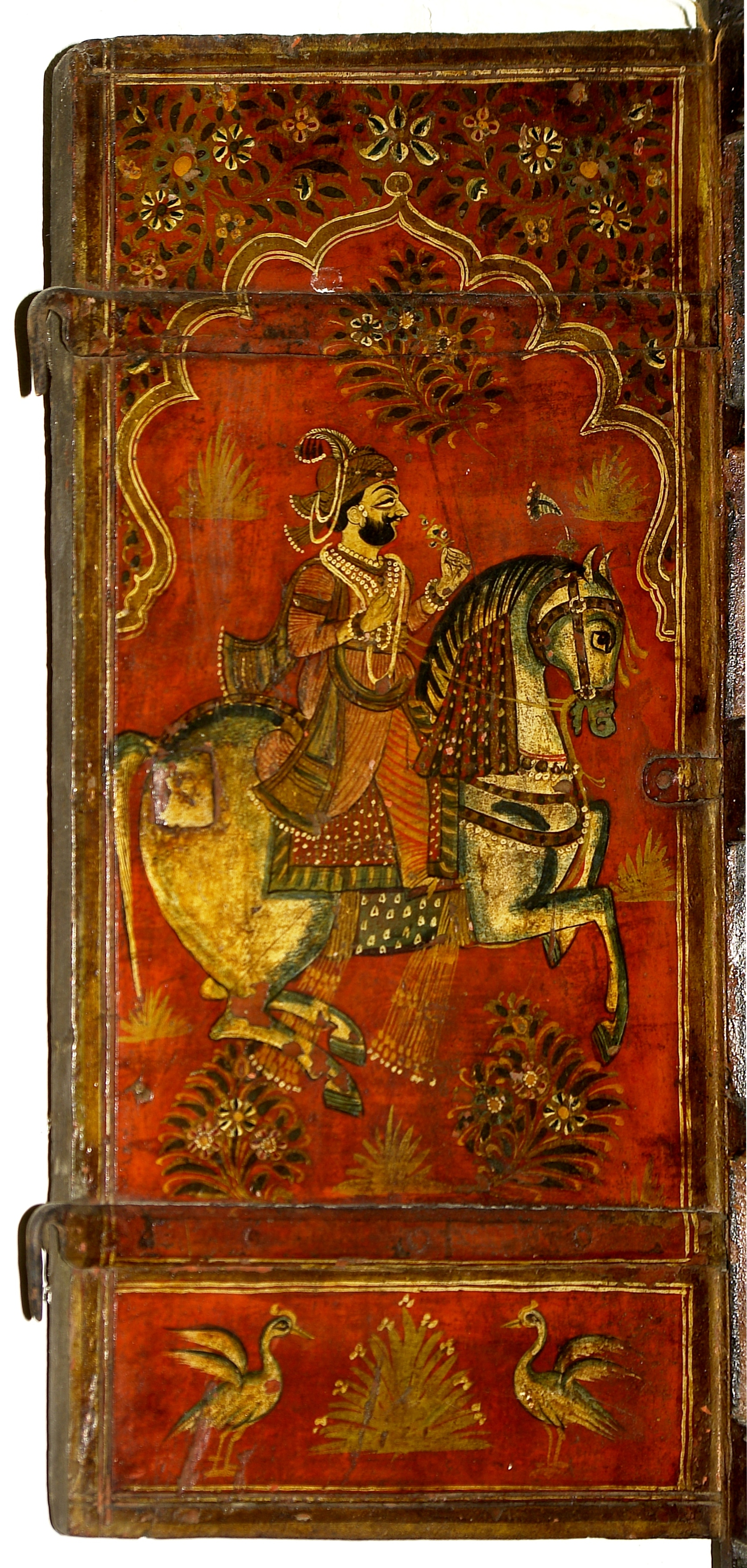 File horse rider painting on wood left part crafts for Mural on wood