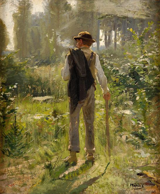Hugo Mühlig Spaziergang im Wald