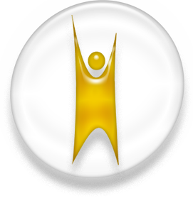 Happy human Humanist logo, white and ...