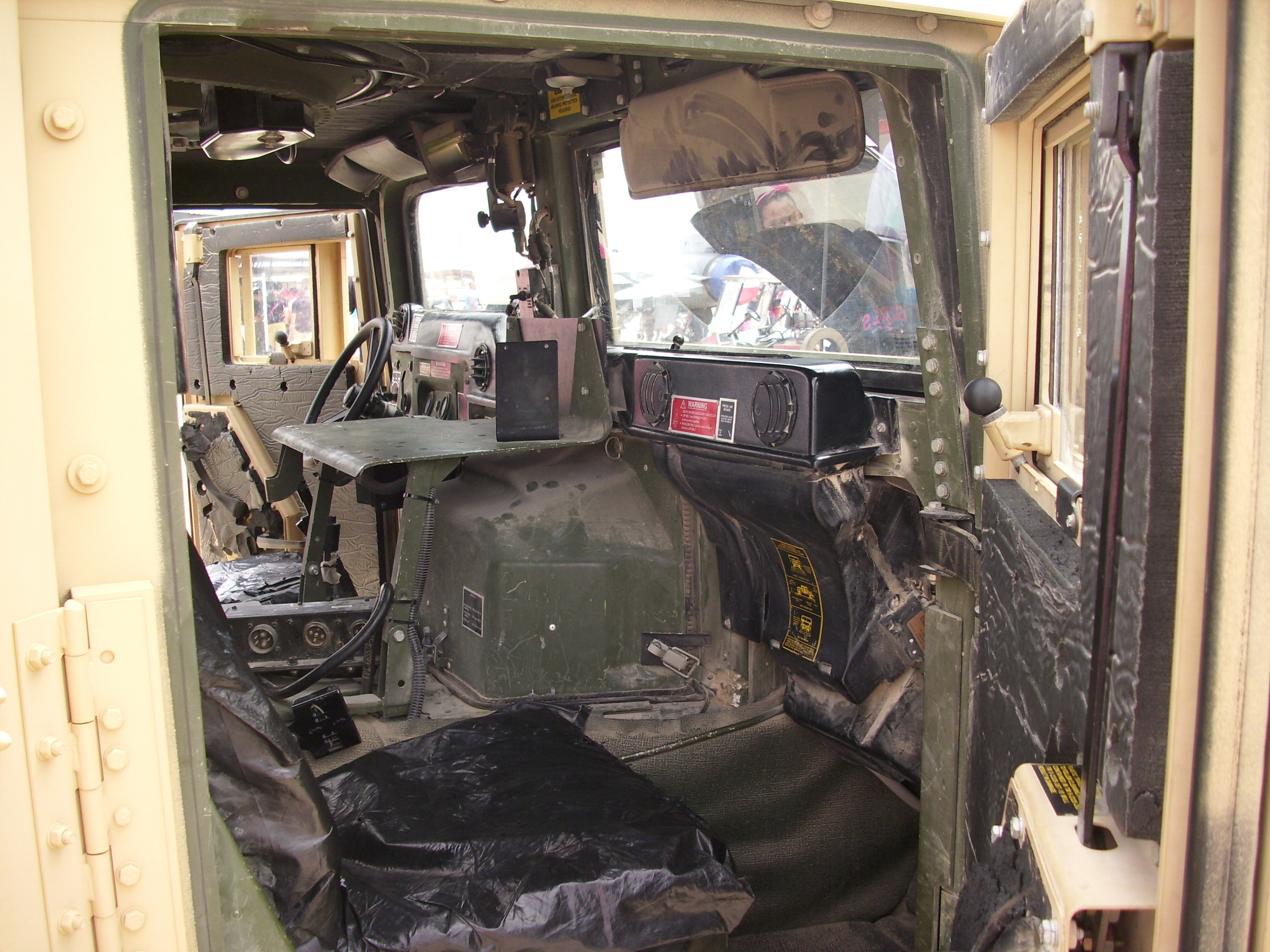 File Humvee Interior Airshow Jpg Wikimedia Commons