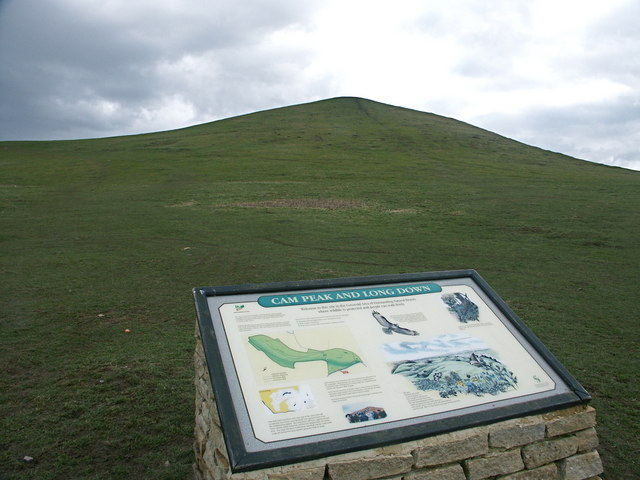 Information Board at Cam Peaked Down, near Dursley, Cotswolds - geograph.org.uk - 1602153