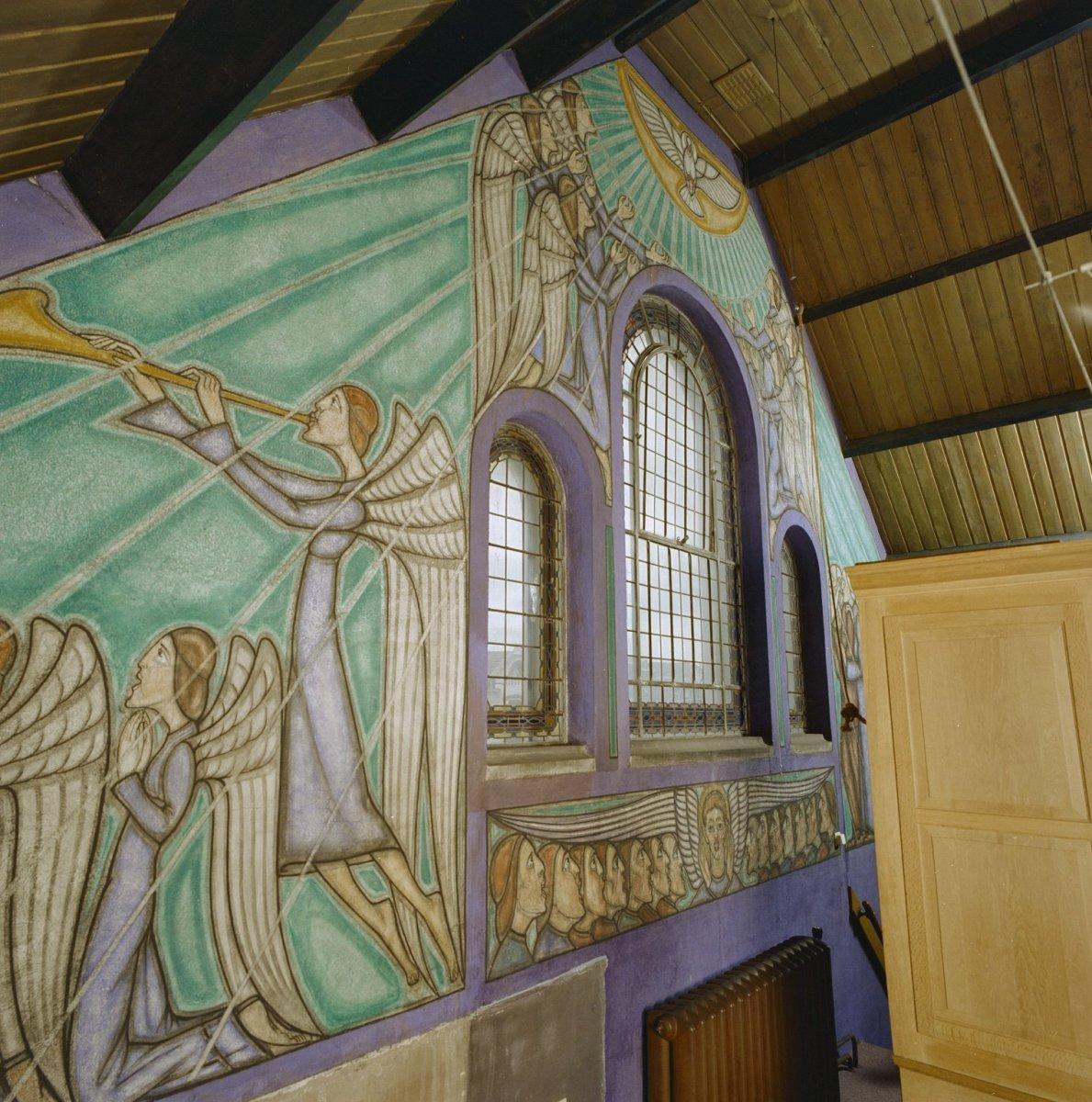 Bestand interieur gedeelte van kap met schilderingen for Interieur leiden