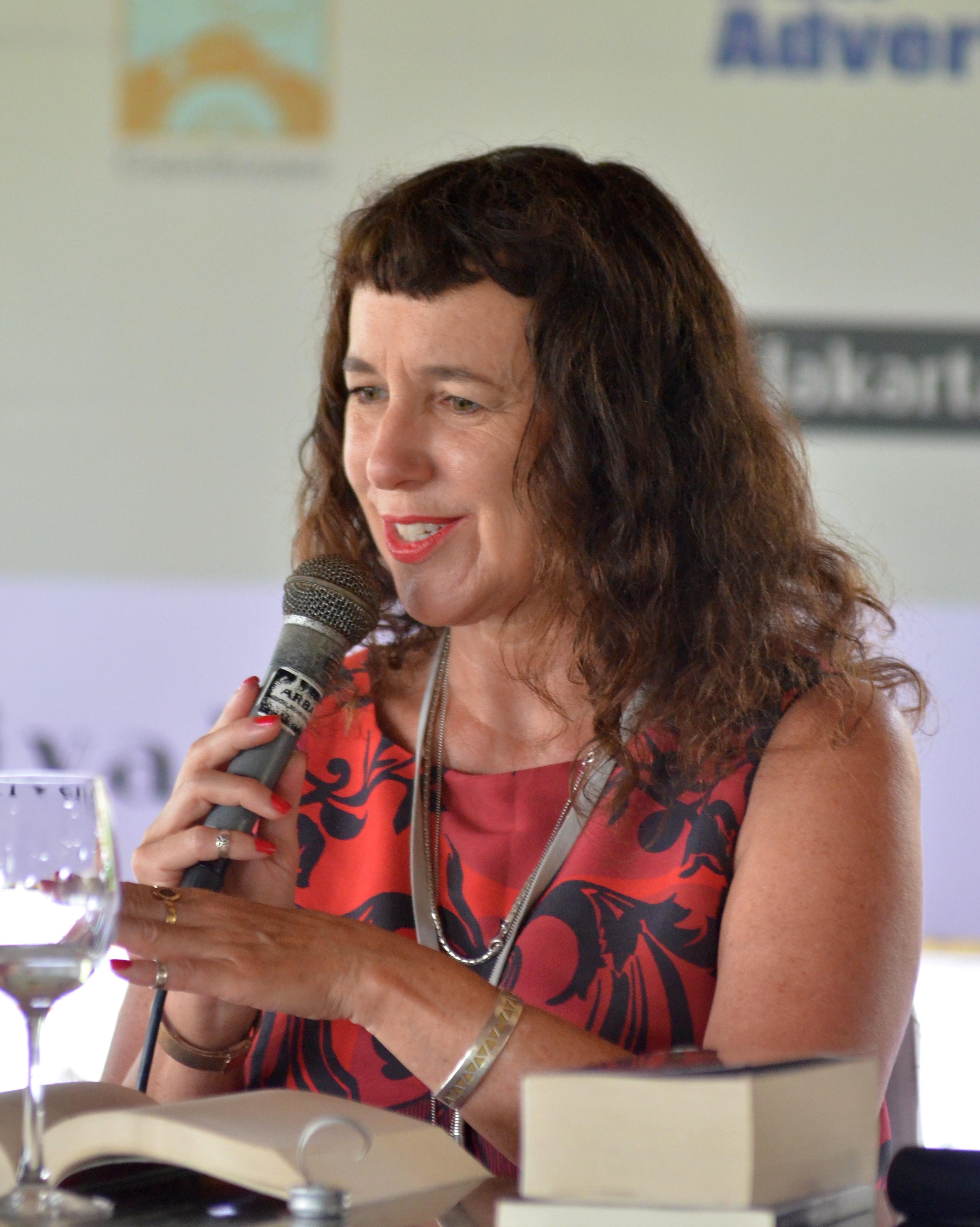 Carmody at a writing event in 2012
