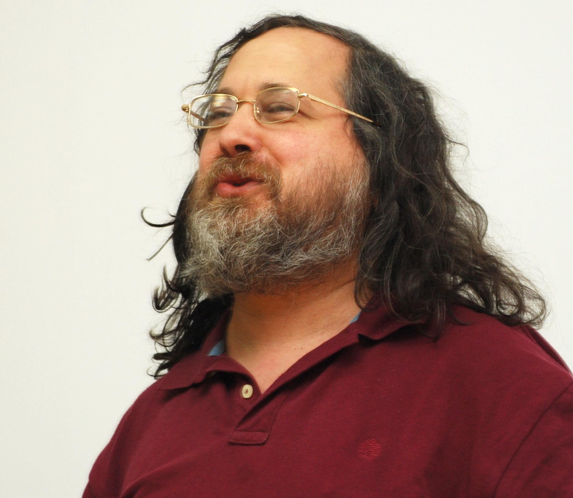 Foto de Richard M. Stallman en Wikimanía 2009