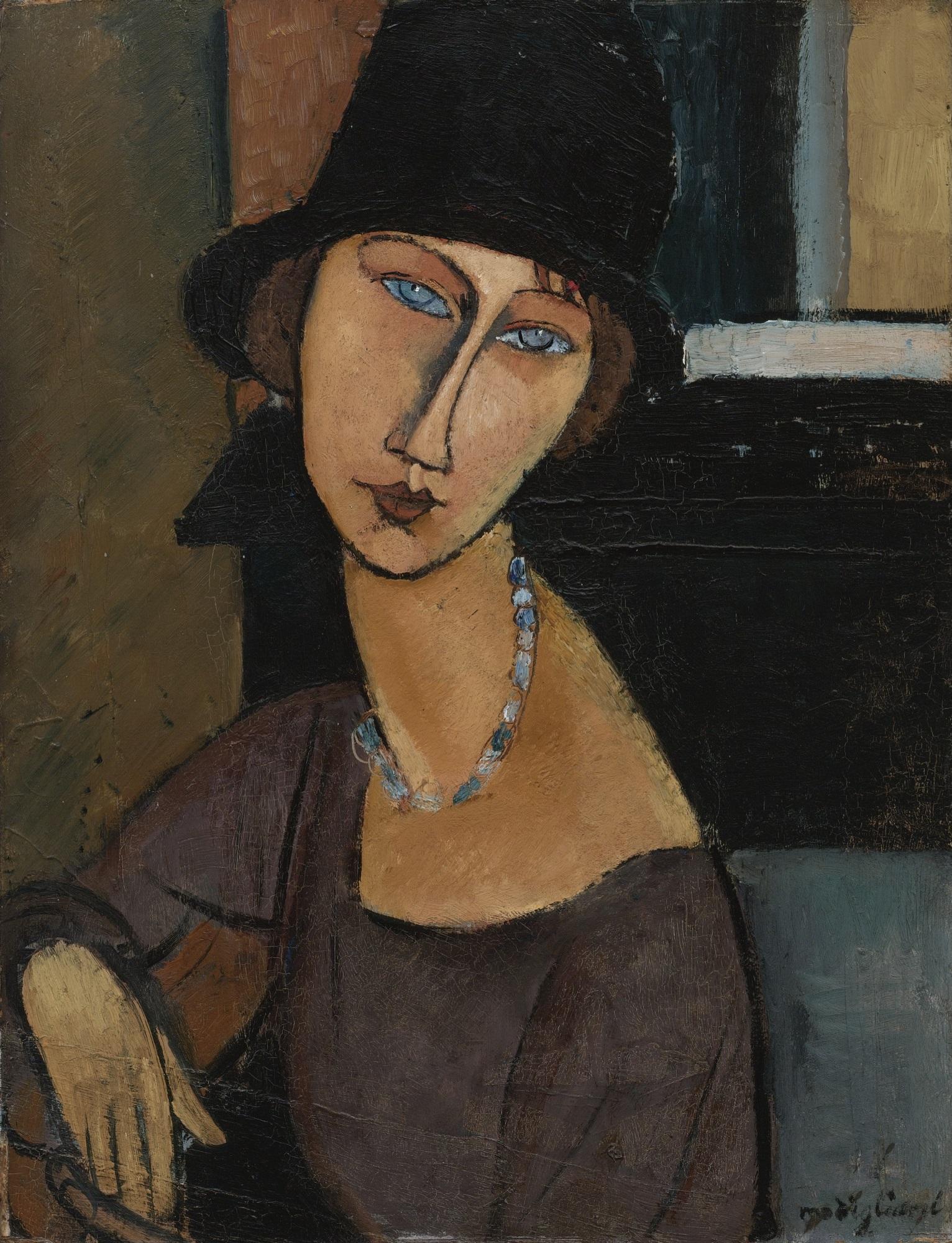 Fichier:Jeanne Hébuterne (au chapeau) by Amedeo Modigliani.jpg — Wikipédia