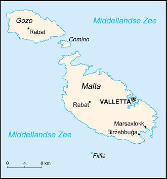 Kaart Malta