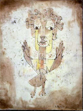 "Paul Klee's 1920 painting Angelus Novus, which Benjamin compared to ""the angel of history"" Klee, Angelus novus.png"