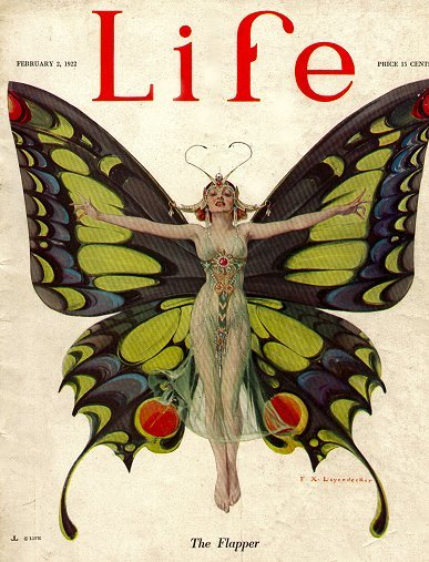 Life mag cover, 1920s