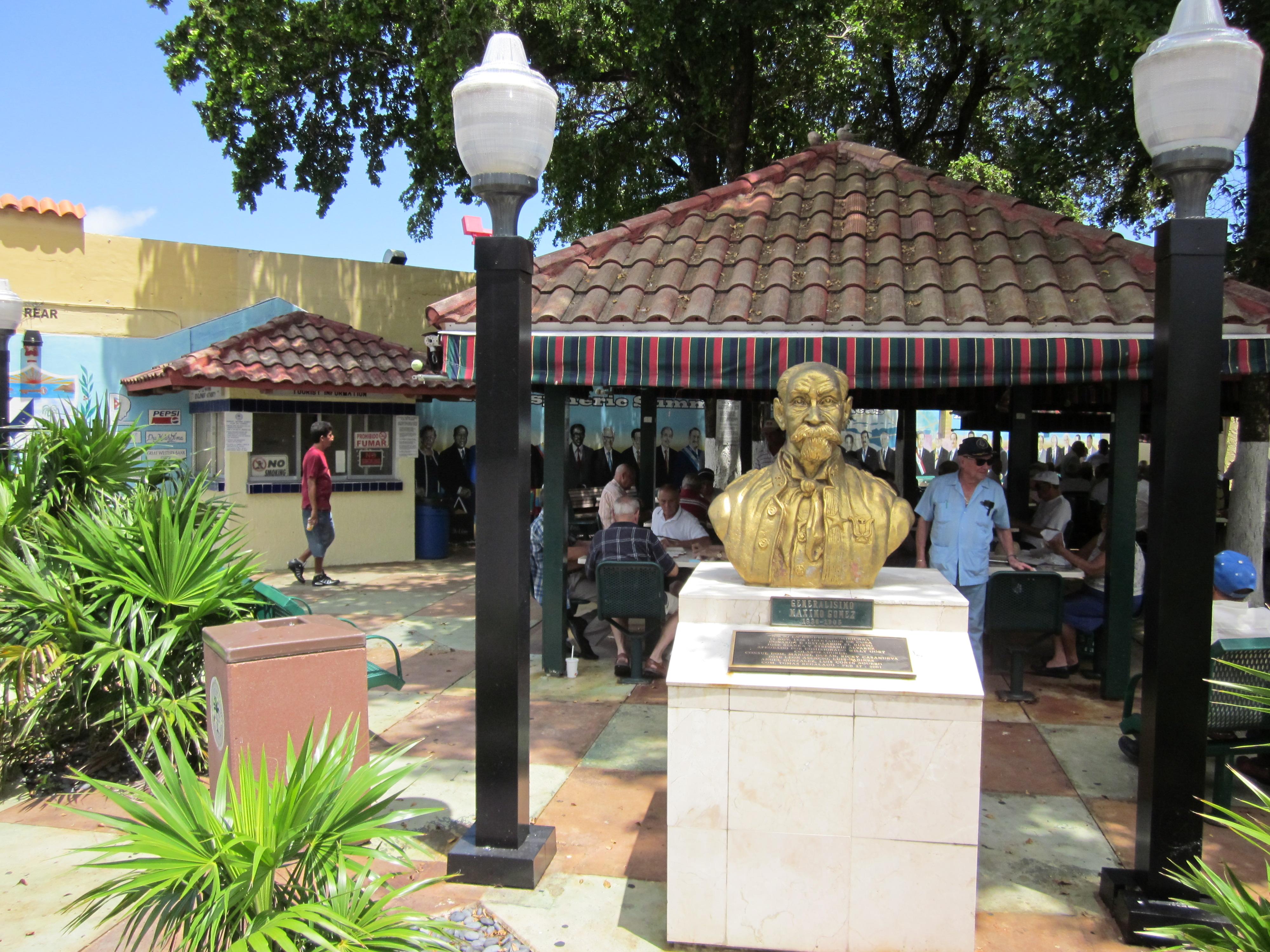 Little Havana's famous Domino Park on Calle Ocho