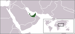 The proposed federation of Arab emirates, which includes modern-day Bahrain, Qatar, and United Arab Emirates.