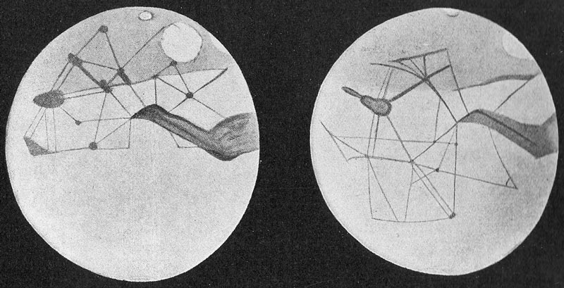 Martian canals depicted by Percival Lowell.