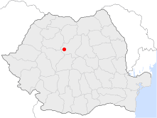 Location of Luduş
