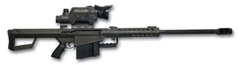 Rifle antimaterial Barret y sus variantes