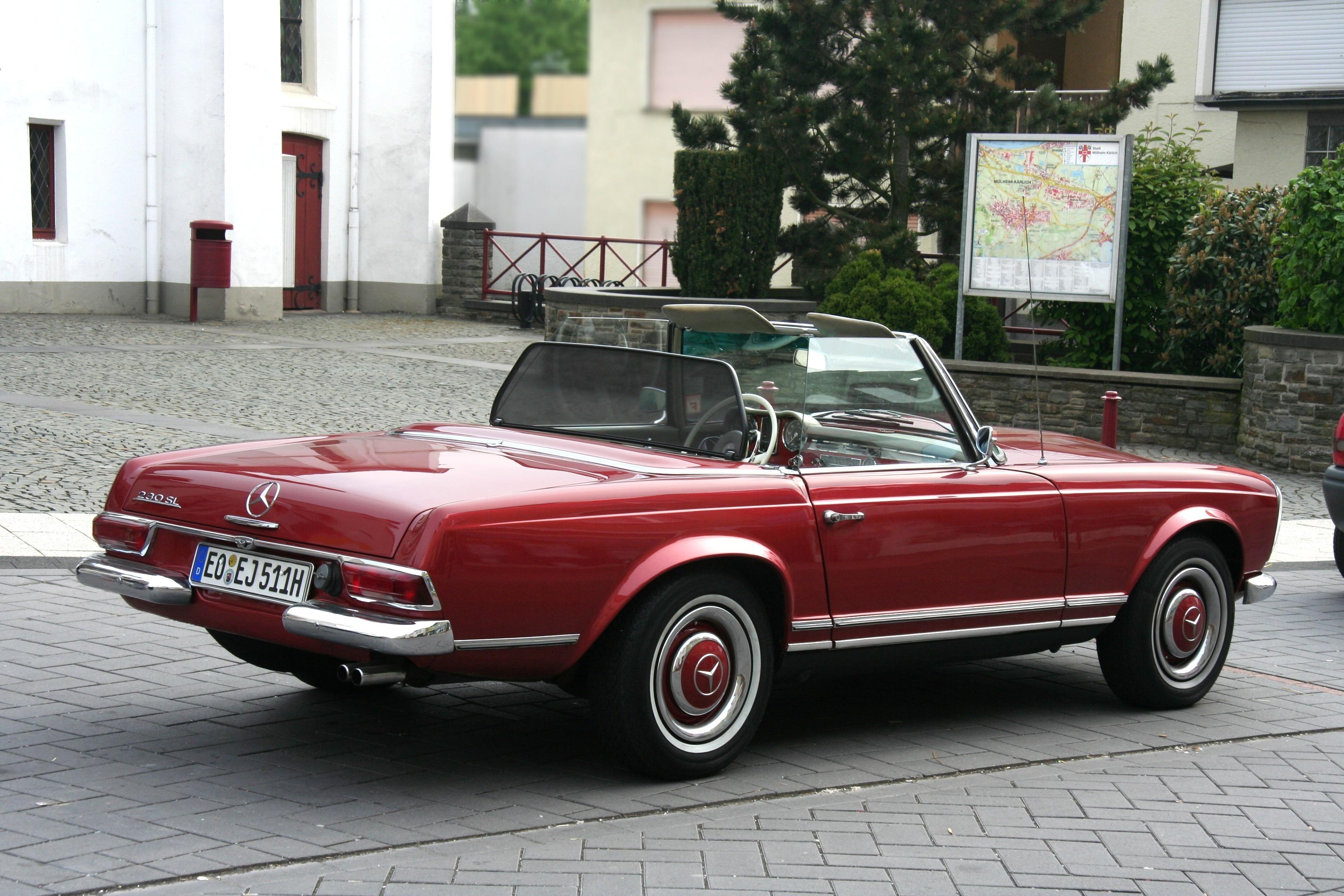 File mb 230 sl bj 1964 heck 2009 05 01 jpg for Mercedes benz old models for sale