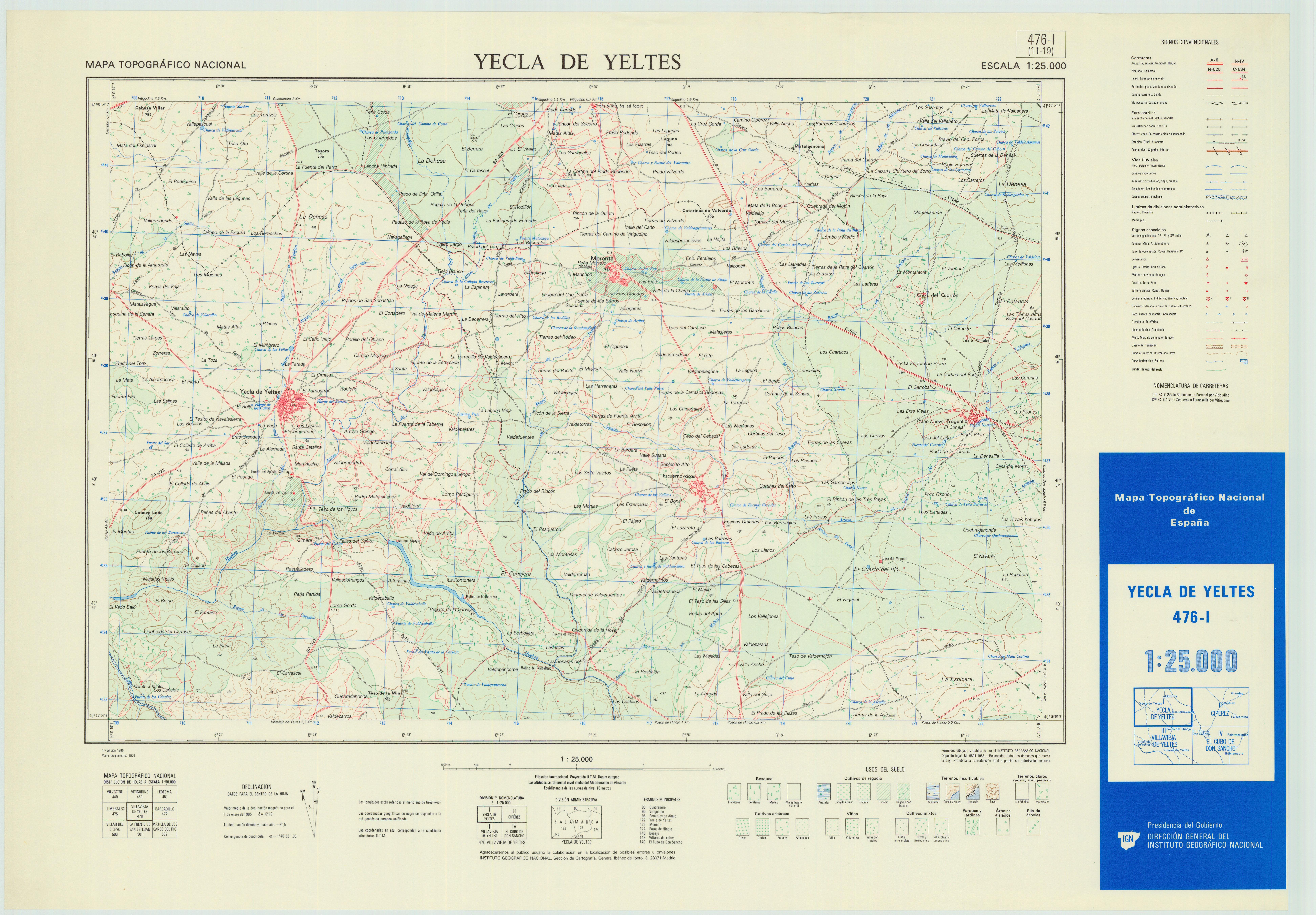 Map Of Yecla Spain.File Mtn25 0476c1 1985 Yecla De Yeltes Jpg Wikimedia Commons