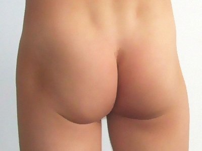 Male human buttocks