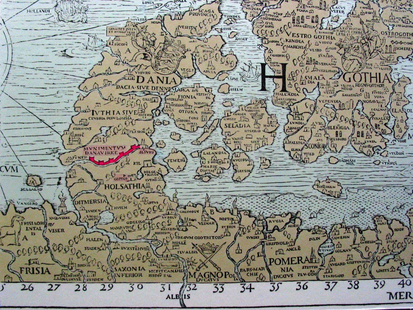 Ancient Denmark Map - Sweden map hedestad