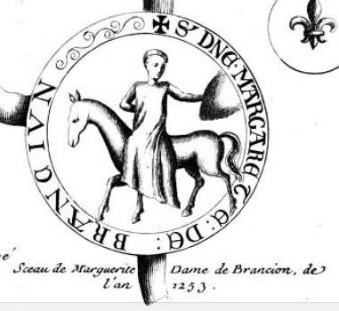 Sceau de Marguerite de Briançon, 1253
