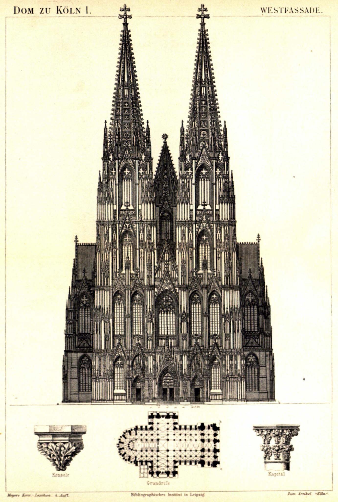 Кёльнский собор. Западный фасад