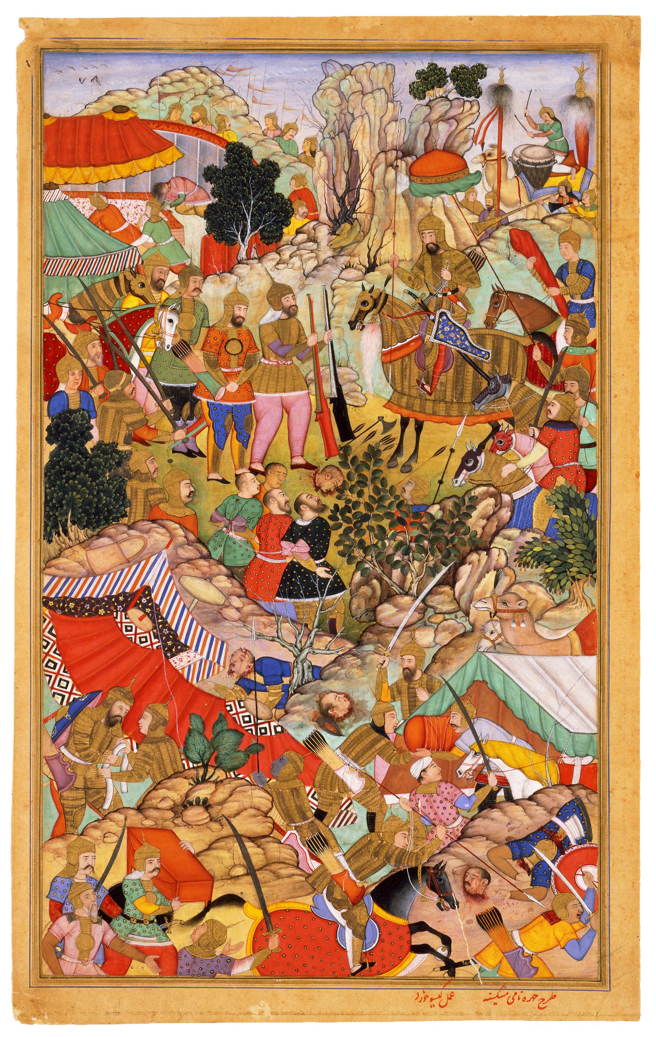 File:Miskin. Miniature from Rashid al'Din Jami-al-Tavarikh.