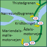 How to get to Mariendals Mølle Motorvejen with public transit - About the place