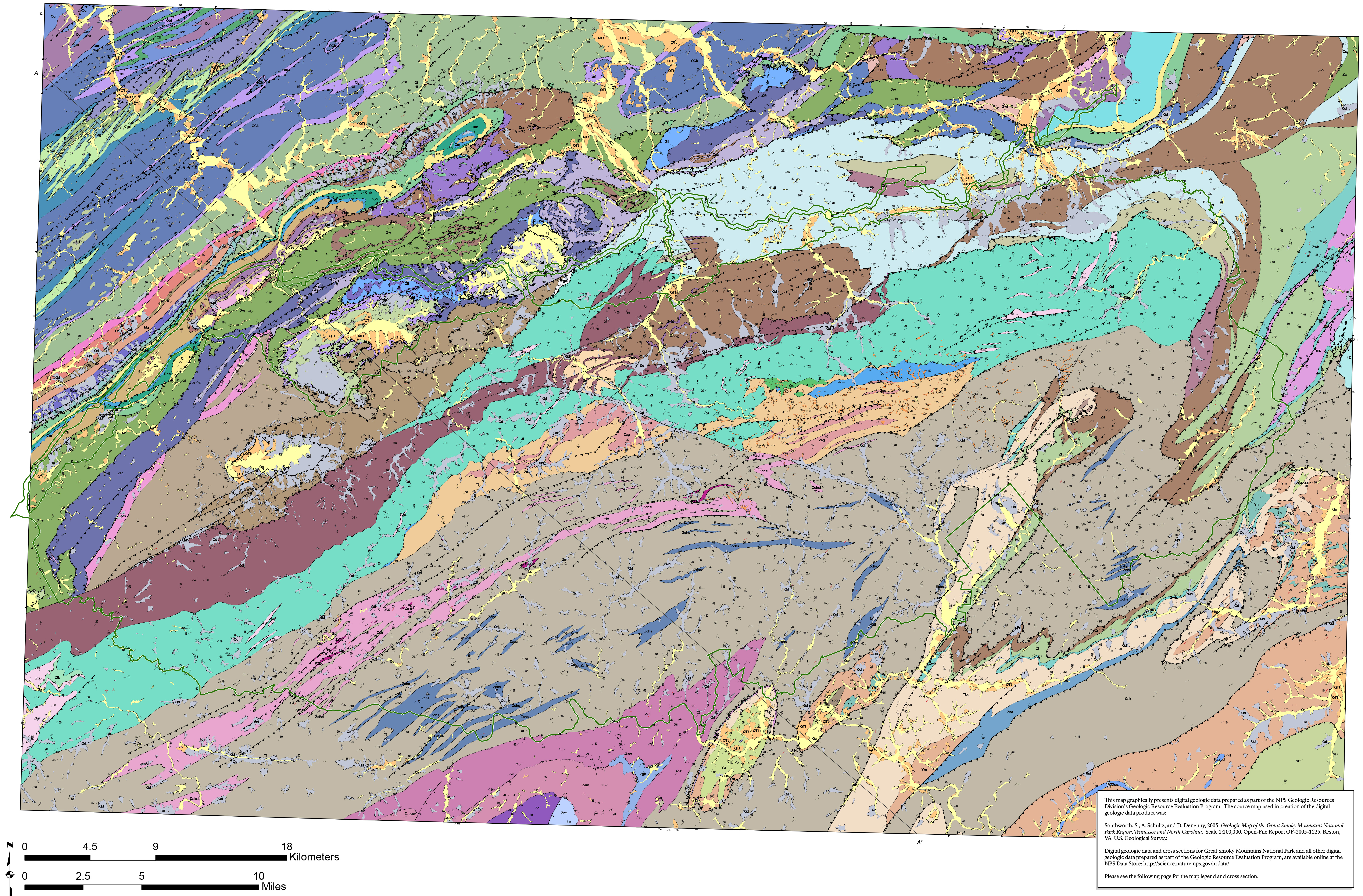 FileNPS greatsmokymountainsgeologicmapjpg Wikimedia Commons