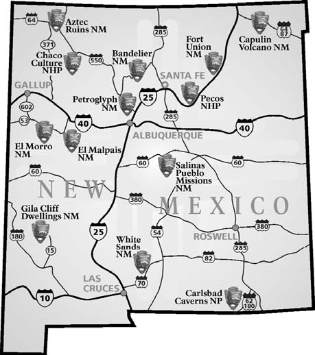 National Parks In New Mexico Map.File Nps New Mexico National Parks Map Jpg Wikimedia Commons