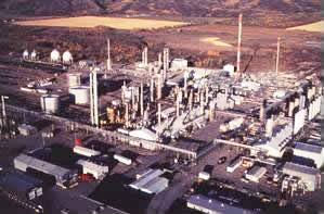 The McMahon natural gas processing plant in Ta...
