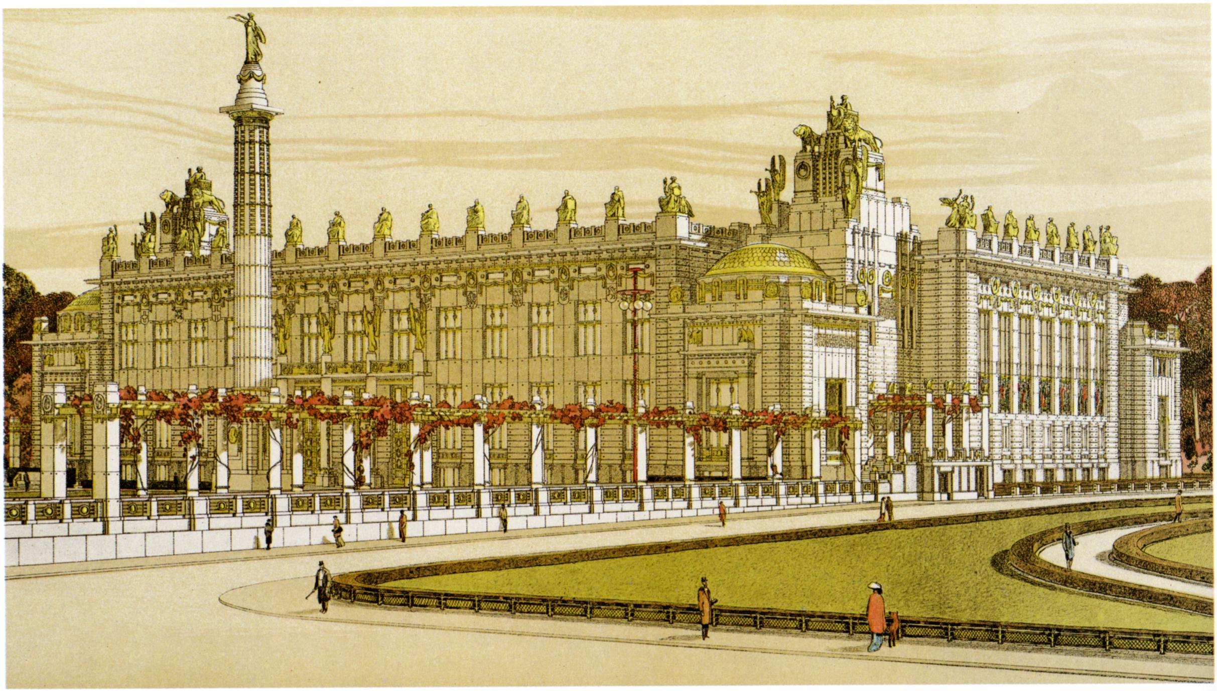 Architektenwettbewerb wikiwand Palace design