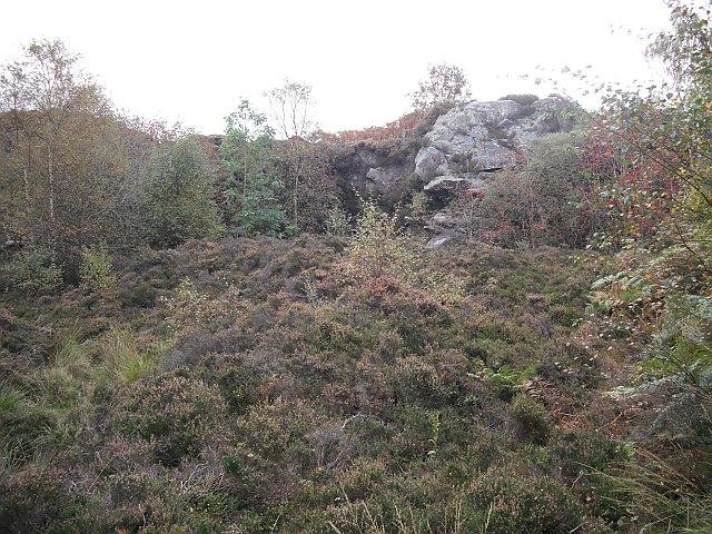 Old quarry, Loch Ardinning - geograph.org.uk - 1517306
