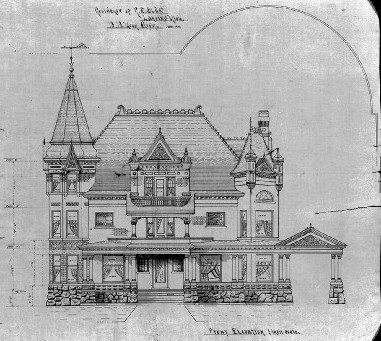 Olds Mansion blueprint