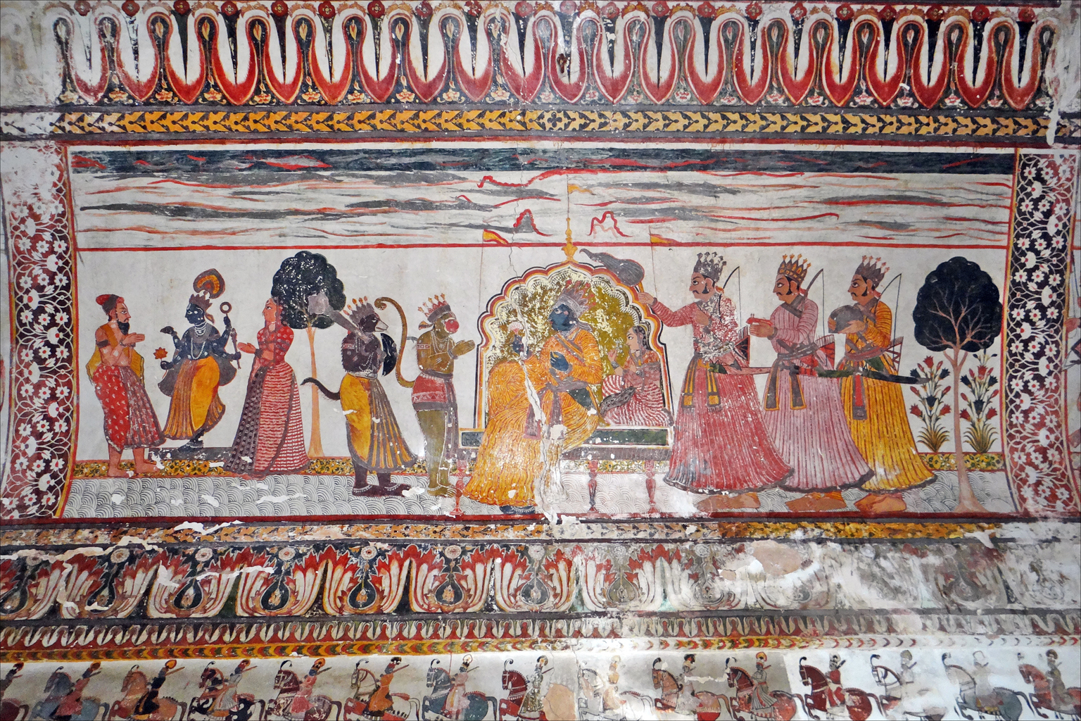 File peinture murale du raja mahal orchha 8452175332 for Les differents types de peintures murales