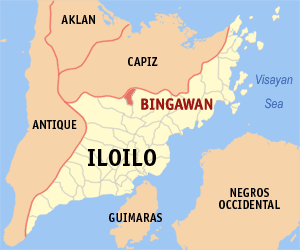 Map of Iloilo showing the location of Bingawan