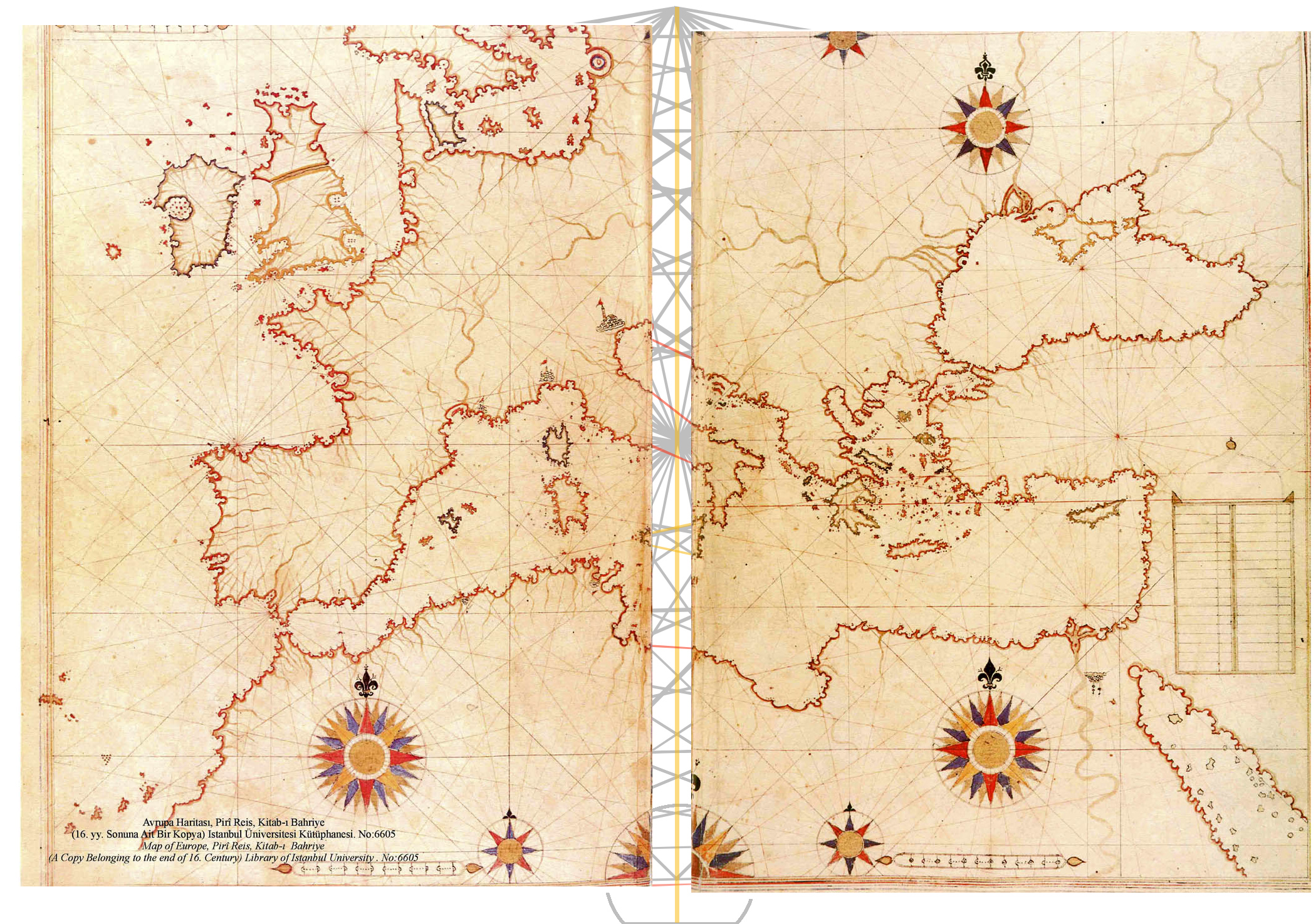 File:Piri Reis map of Europe and the Mediterranean Sea-right-spaced ...