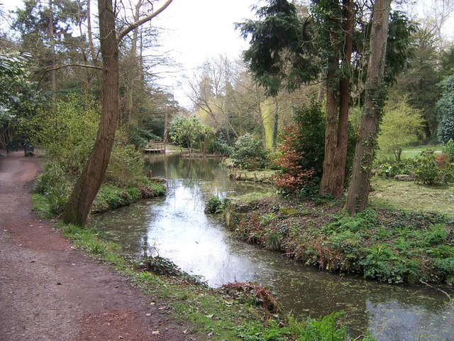 Pond in Holly Hill Woodland Park - geograph.org.uk - 755446
