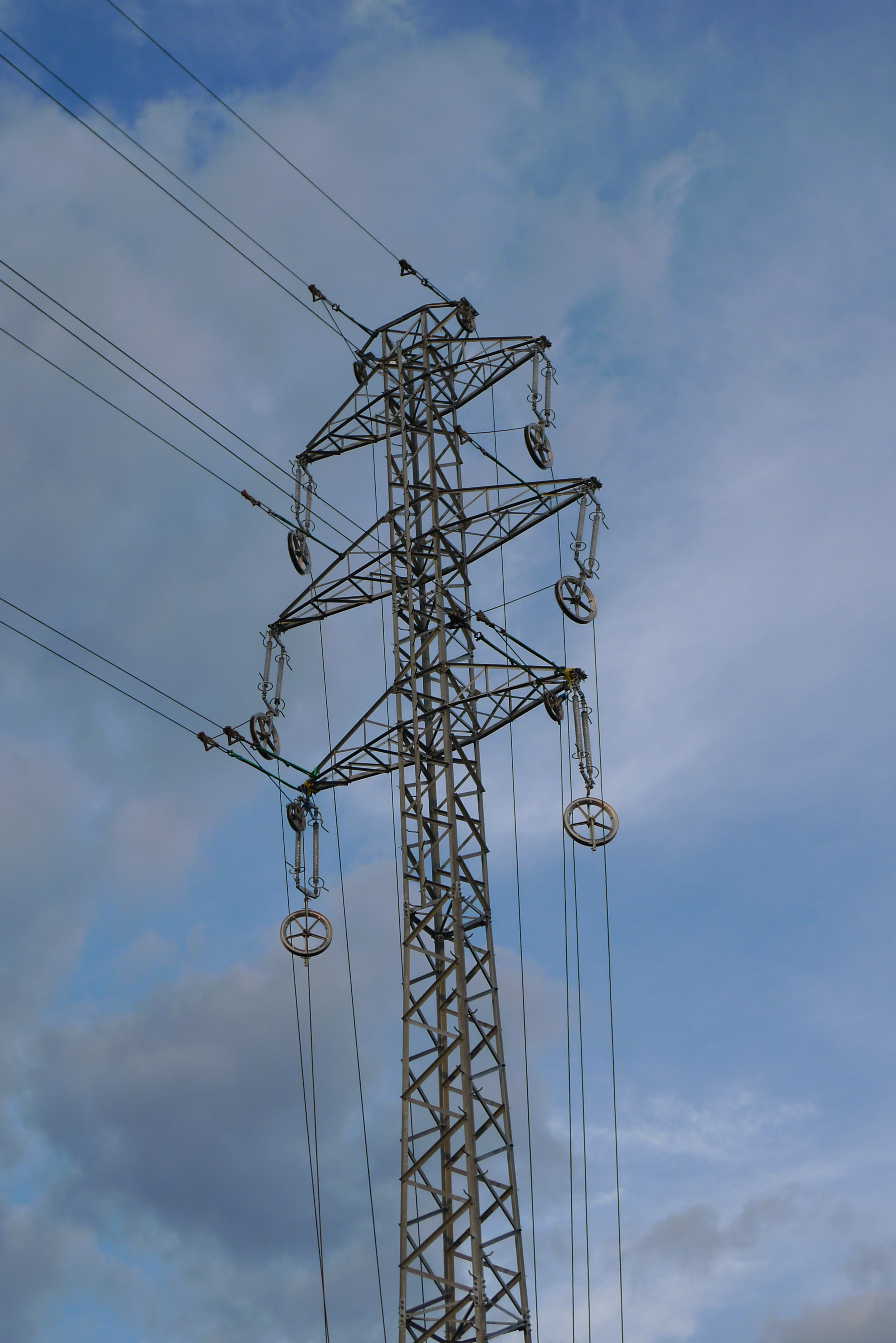 File Power Line Pylon With Temporary Ended Cables Detail