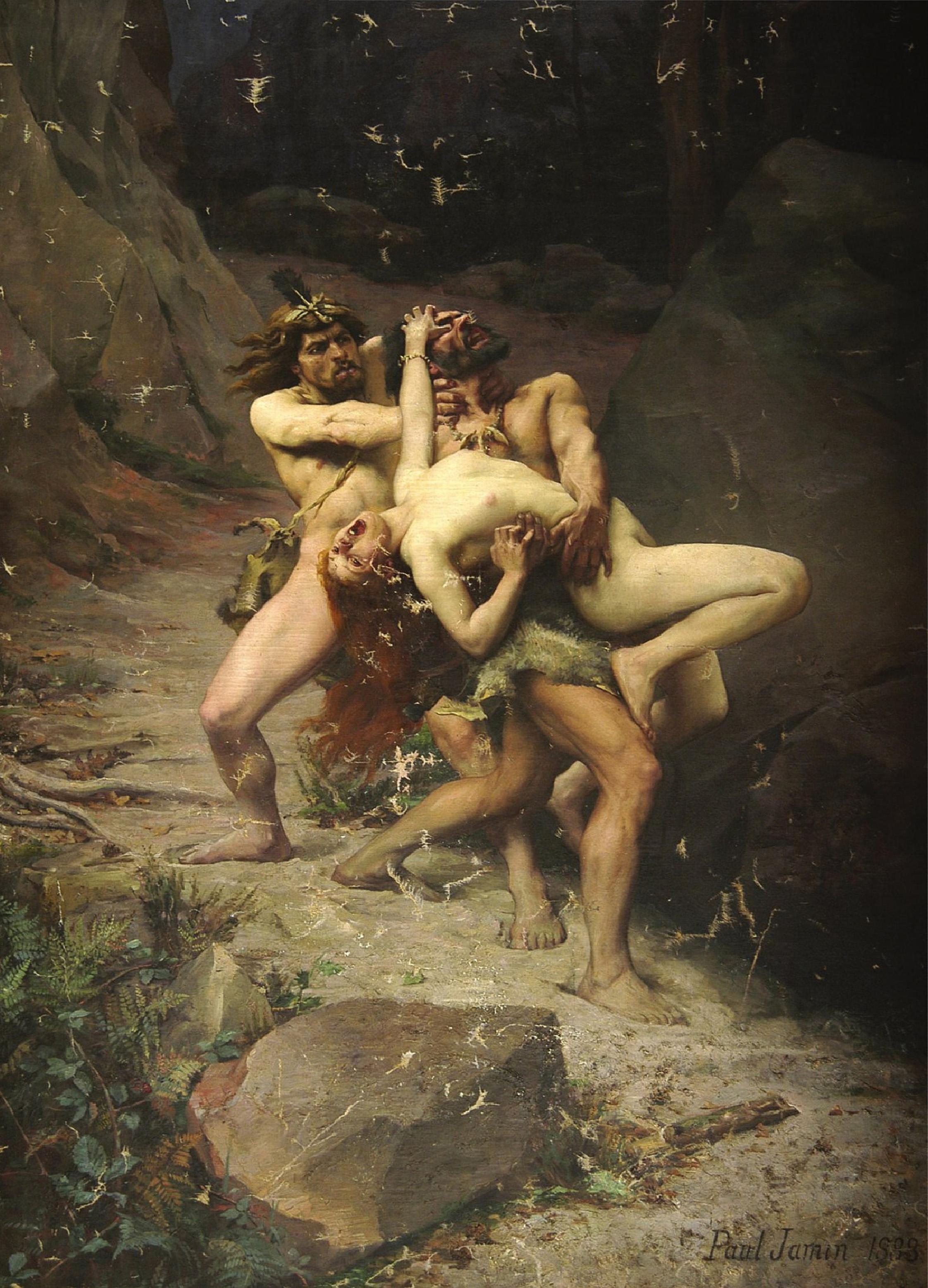 Le Rapt à l'age de pierre, 1888, Paul Jamin