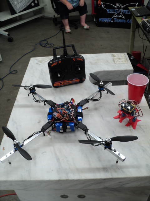 A Maker Faire quadcopter in Garden City, Idaho