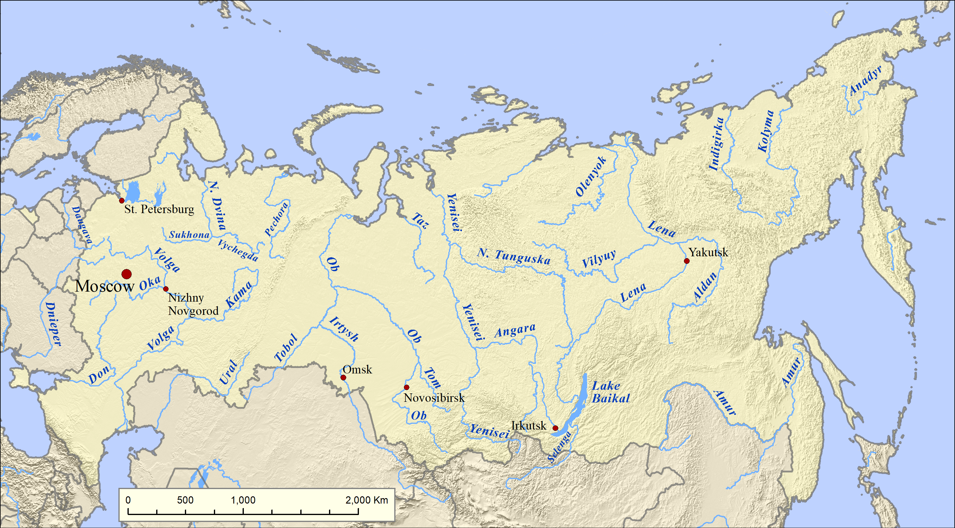 List of rivers of Russia - Wikipedia