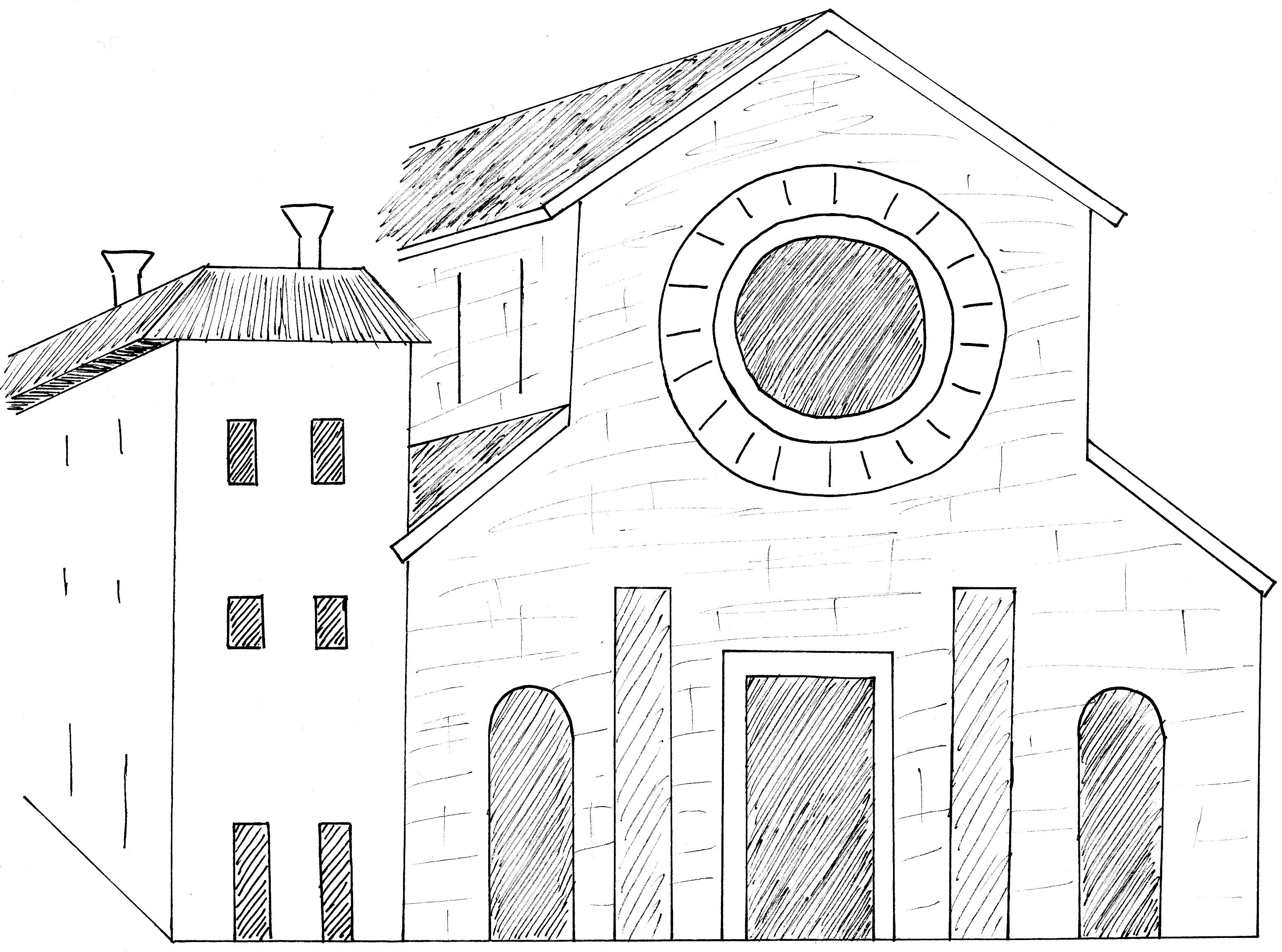 File san pietro de dom brescia disegno for Disegno della casa di architettura