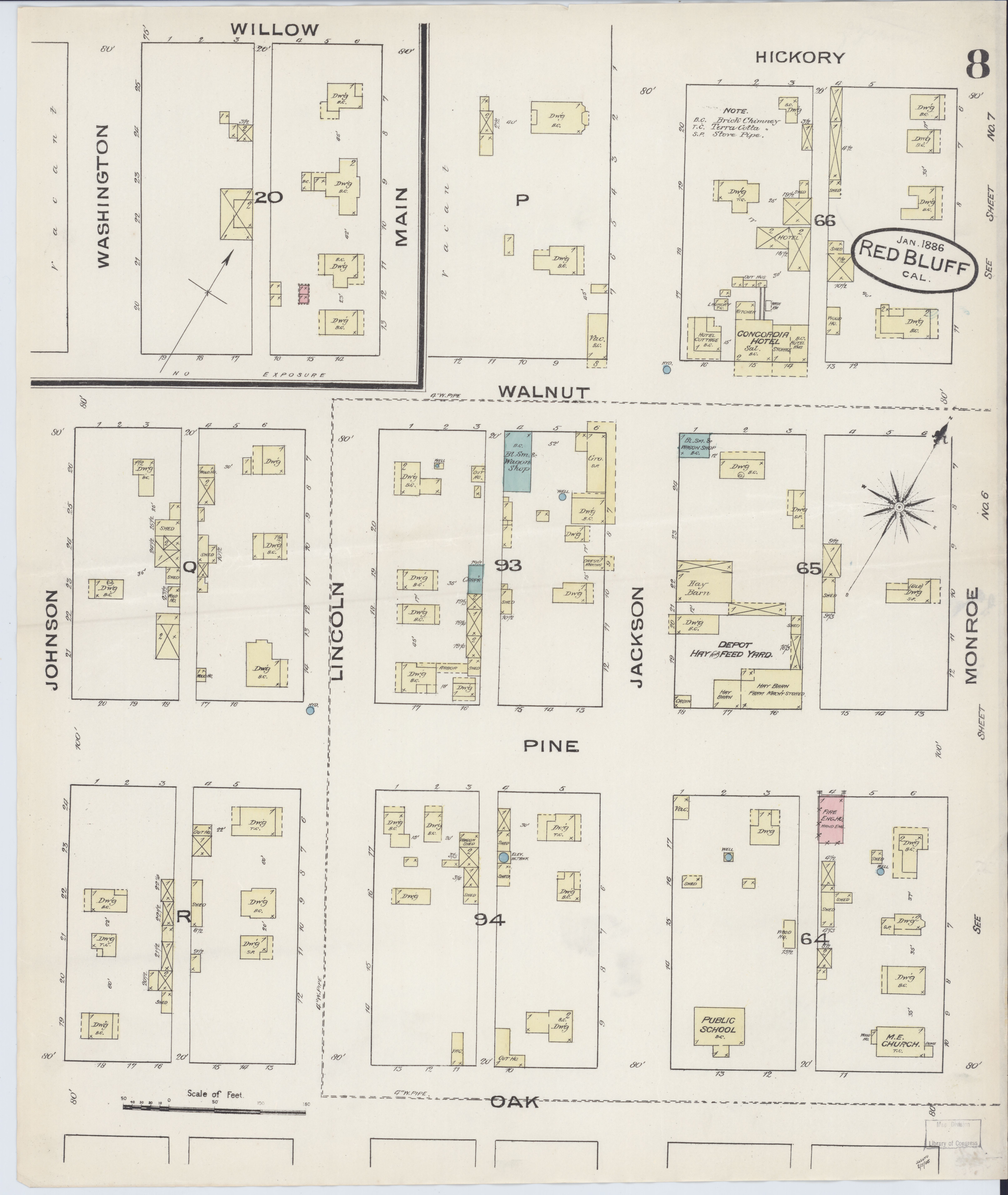 File Sanborn Fire Insurance Map From Red Bluff Tehama County