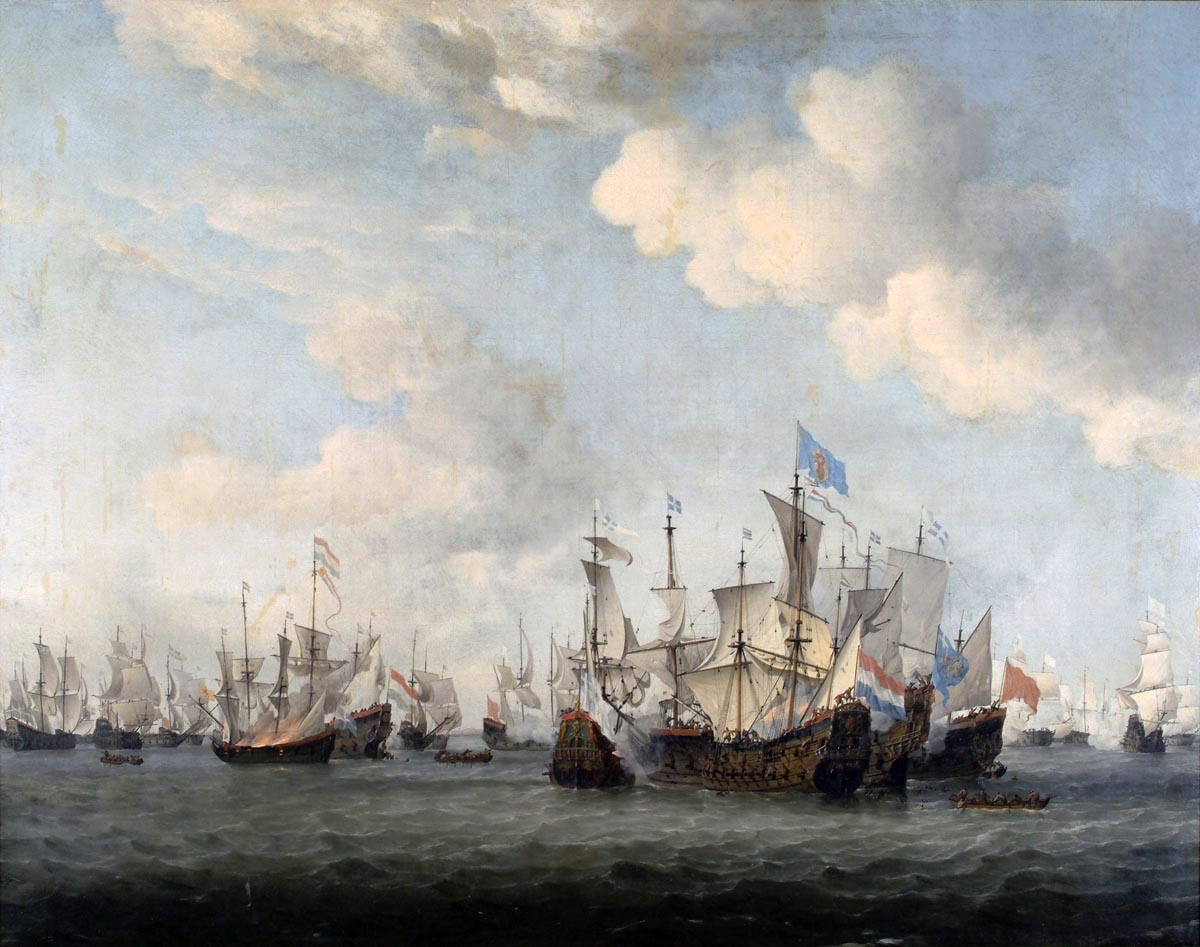 John Allcot Artist Oranje Dutch Hospital Ship Painting