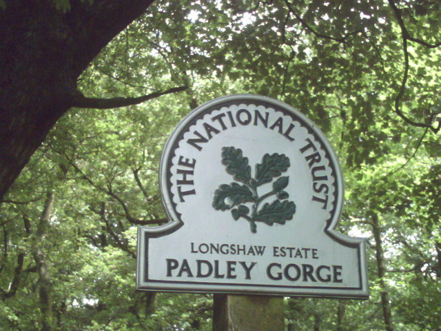 Sign for Padley Gorge - geograph.org.uk - 1088898