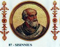 Pope Sisinnius pope